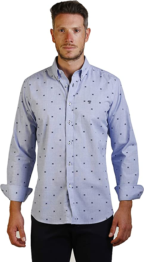 THE TIME OF BOCHA Camisa Hombre JI1TOP-19 Talla XXL: Amazon.es: Ropa y accesorios
