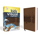 NIV, Kids' Visual Study Bible, Leathersoft, Bronze, Full Color Interior: Explore the Story of the Bible---People, Places, and