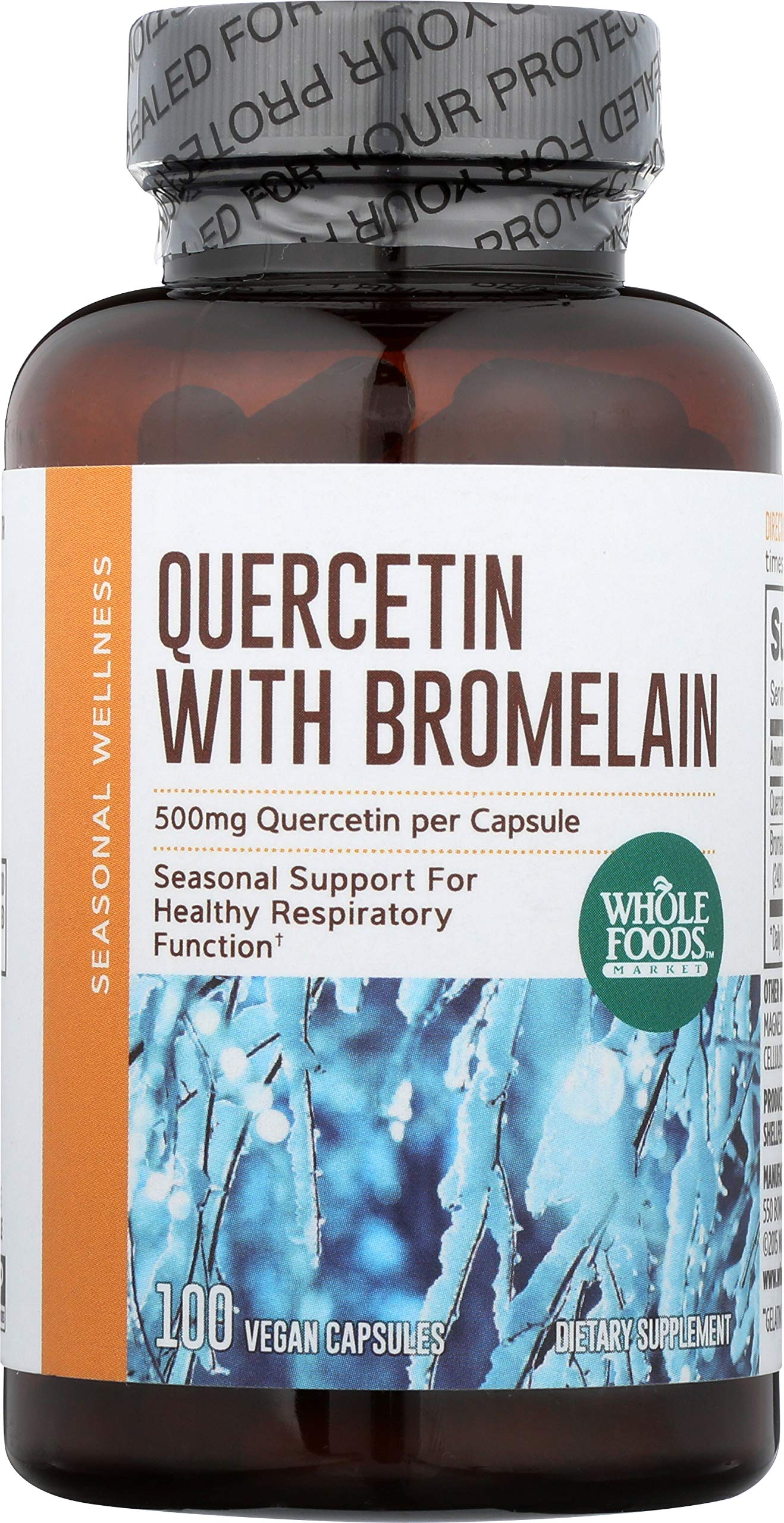 Whole Foods Market, Quercetin with Bromelain, 100 ct