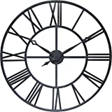 Infinity Instruments Antique Tower 30 inch Large Roman Numeral Wall Clock Indoor/Outdoor Patio Waterproof Oversized…