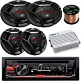 Single DIN CD/MP3/WMA Headunit Receiver Bundle Combo with 2X 6x9 3-Way Stereo Coaxial Speakers + 2X 6.5 2-Way Audio…