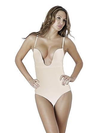 8a0369015e Dr. Rey Shapewear Womens Deep Plunge Bodysuit at Amazon Women s ...