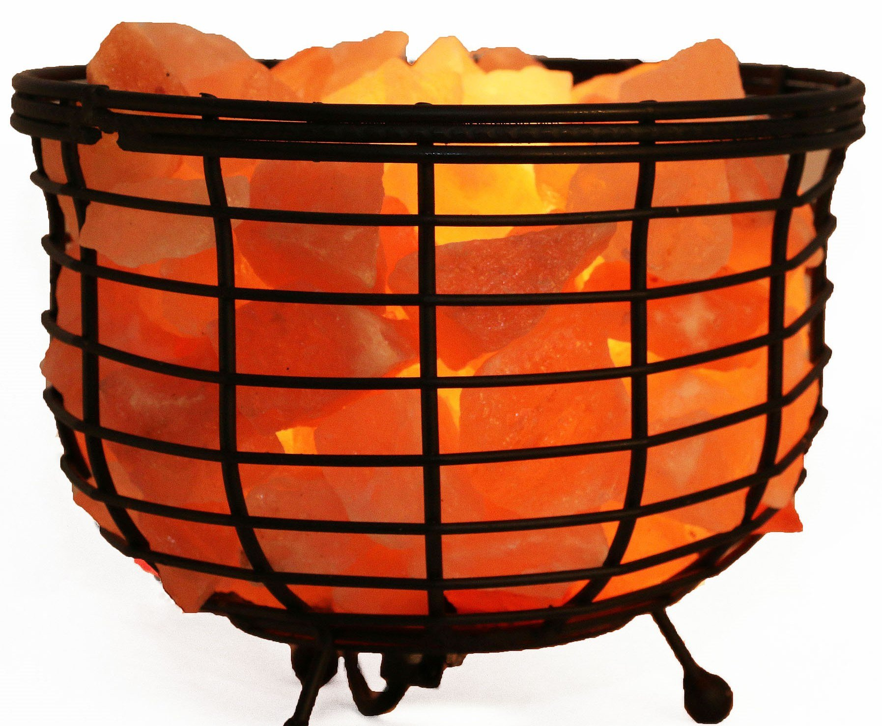 Accentuations by Manhattan Comfort Himalayan Wired 1.0 Basket Lamp with Rocks, 8'', Natural