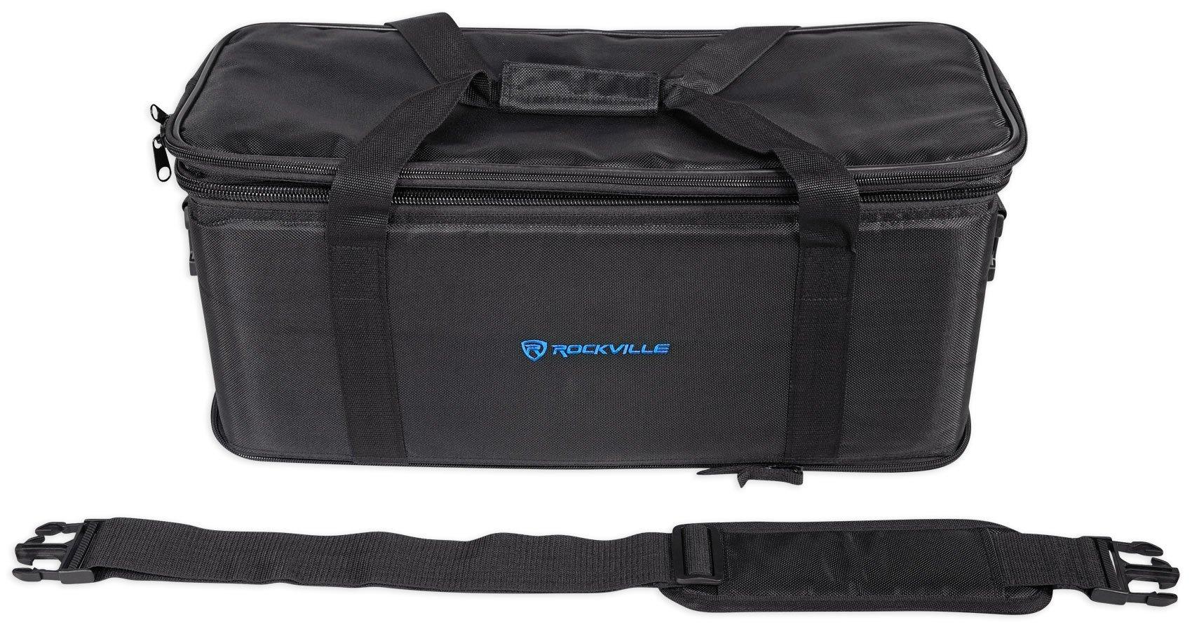 Rockville RRB40 4U Space Bag-Style Rack Case with Removable Rack+Shoulder Strap by Rockville