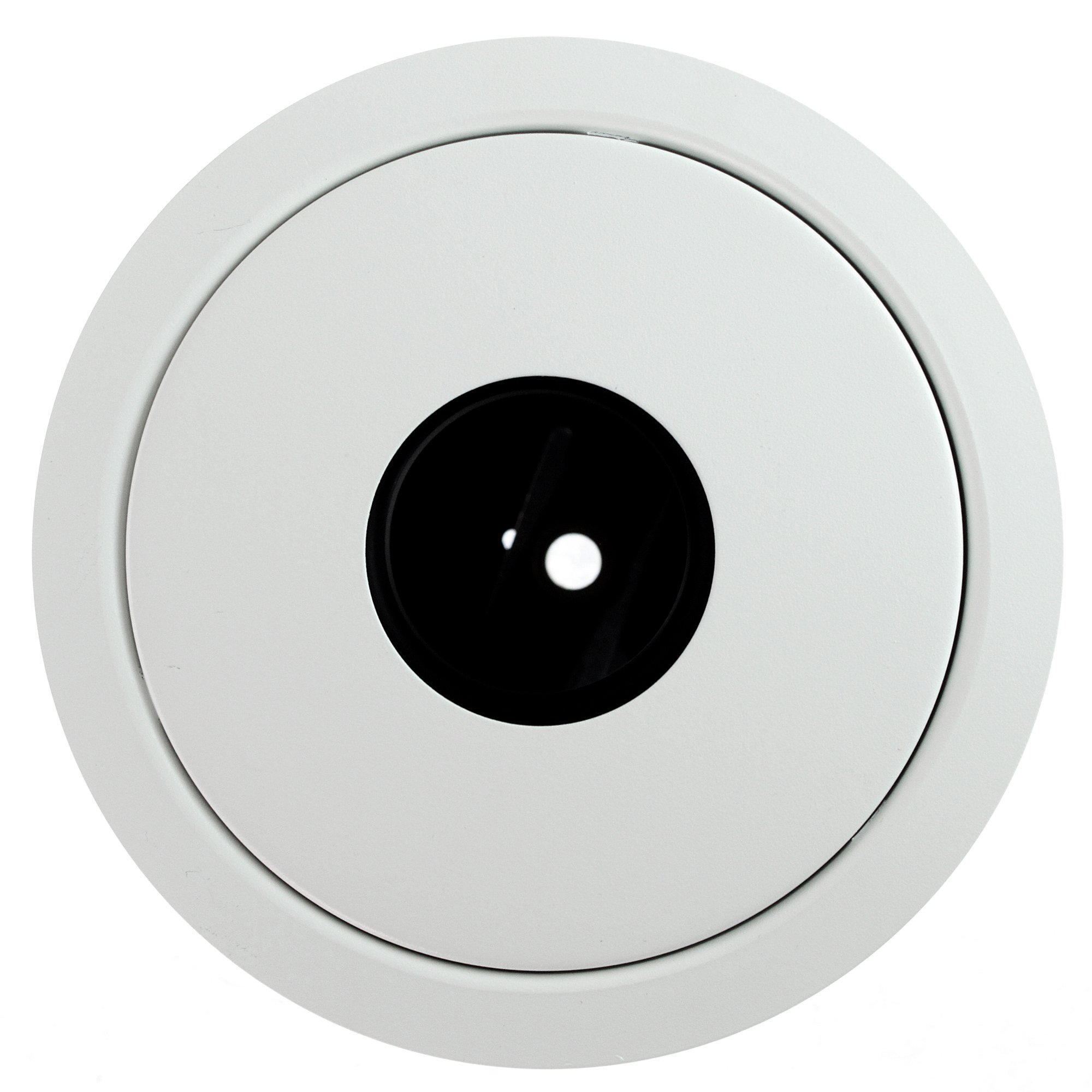 Lytecaster Adjustable MR16 Pinhole Reflector Trim in Matte White