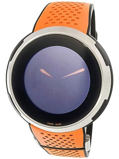 Gucci YA114104 - Reloj de Pulsera de Hombre, Correa de Caucho Color Naranja: Amazon.es: Relojes