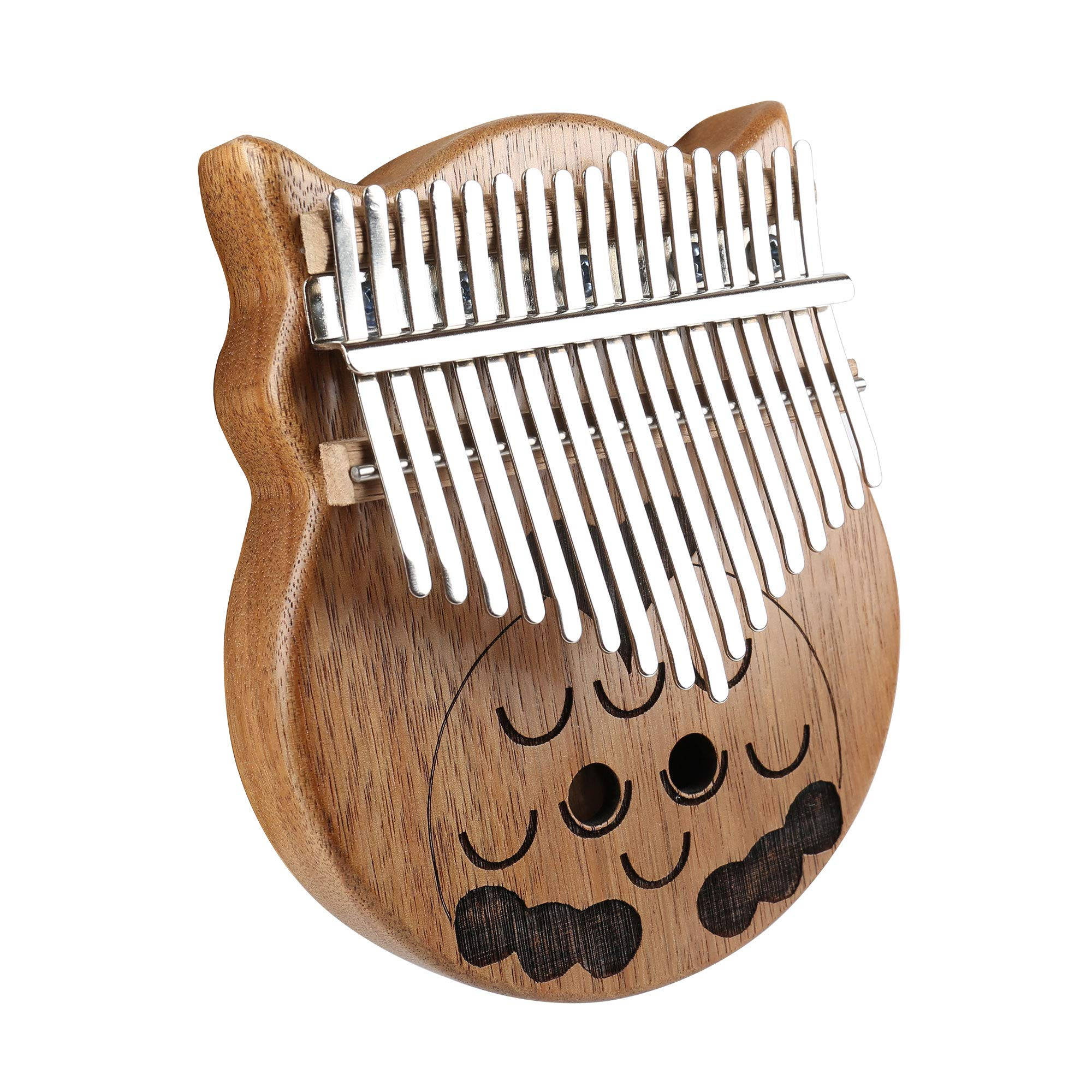longdafeiUS Kalimba, Owl ThumbPianowith 17 Key Finger Piano Mbira Solid Walnut Wood Thumb Piano Finger Percussion Musical Gift by longdafeiUS