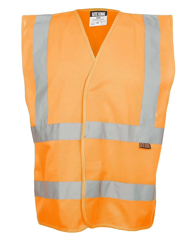 Yellow Orange Pink Green Navy Hi Vis Coloured Vest Waistcoats Vests