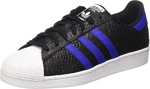 adidas superstar black and blue