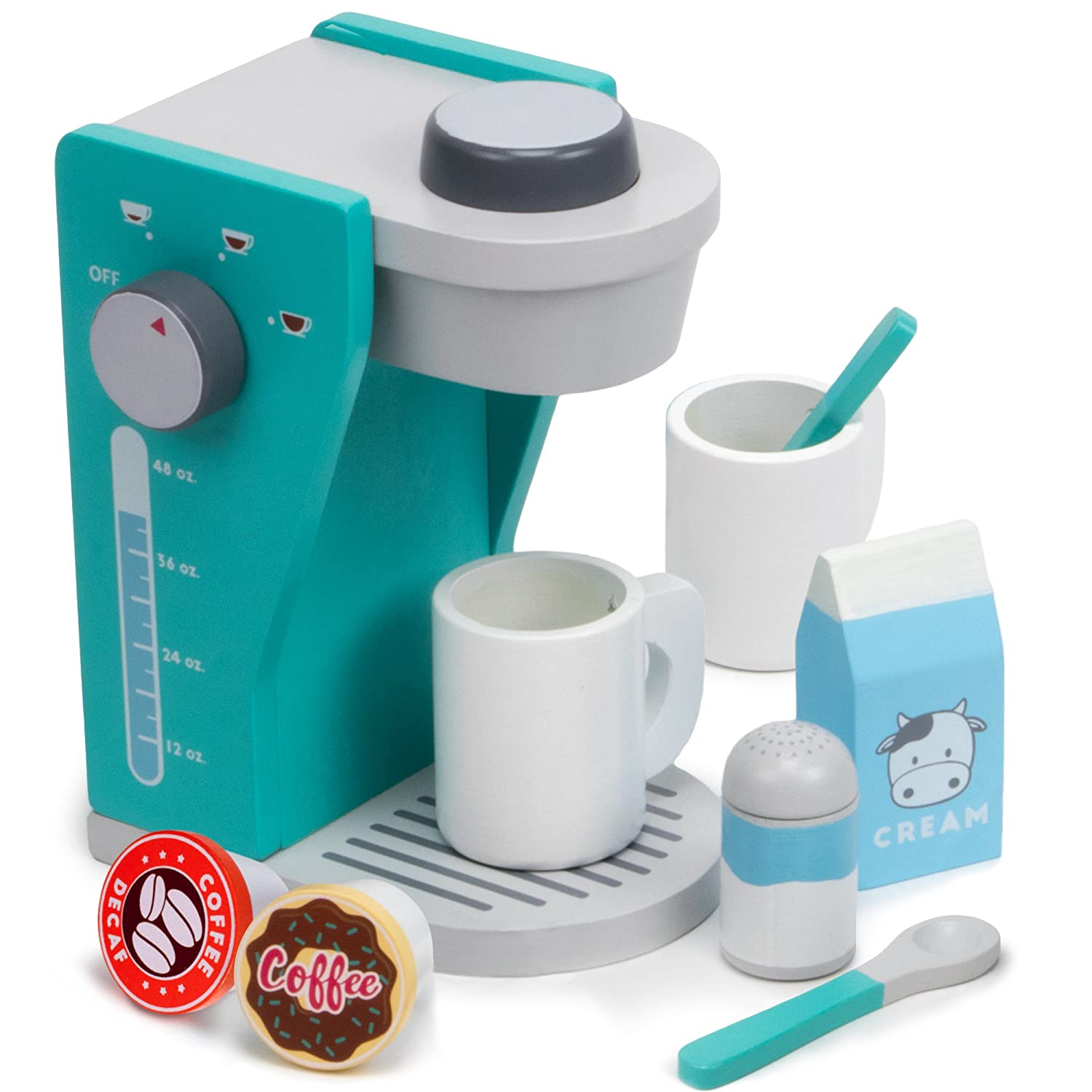 Amazon.com: Rise & Shine Pod Capsule Coffee Maker Playset, with 2 ...