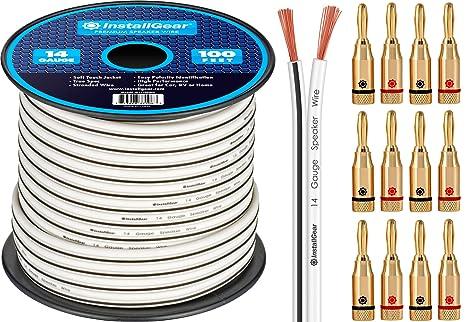 Fantastic Amazon Com Installgear 14 Gauge Awg 100Ft Speaker Wire Cable Wiring 101 Tzicihahutechinfo