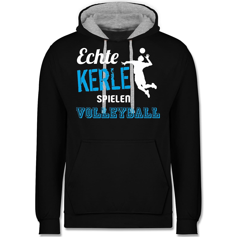 Shirtracer Volleyball - Echt Kerle Spielen Volleyball - Kontrast Hoodie B07BKZSXS5 Kapuzenpullover Creative