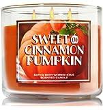 1 X Bath & Body Works 2014 SWEET CINNAMON PUMPKIN (Orange) 3 Wick Scented Candle 14.5 oz./411 g