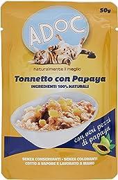 Adoc Naturale Tonnetto e Papaya per gatti adulti, confezione da 30 pezzi
