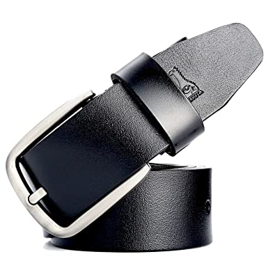 Meetloveyou Belts for Men Cow Belt Man Fashion Designer Strap Male Jeans  cintos MU067 Black 105cm 2c9d7e4137e