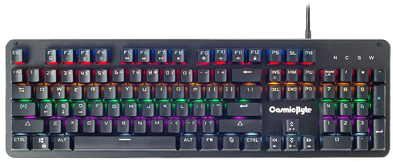 Cosmic Byte CB-GK-13 Neon Rainbow Backlit Mechanical