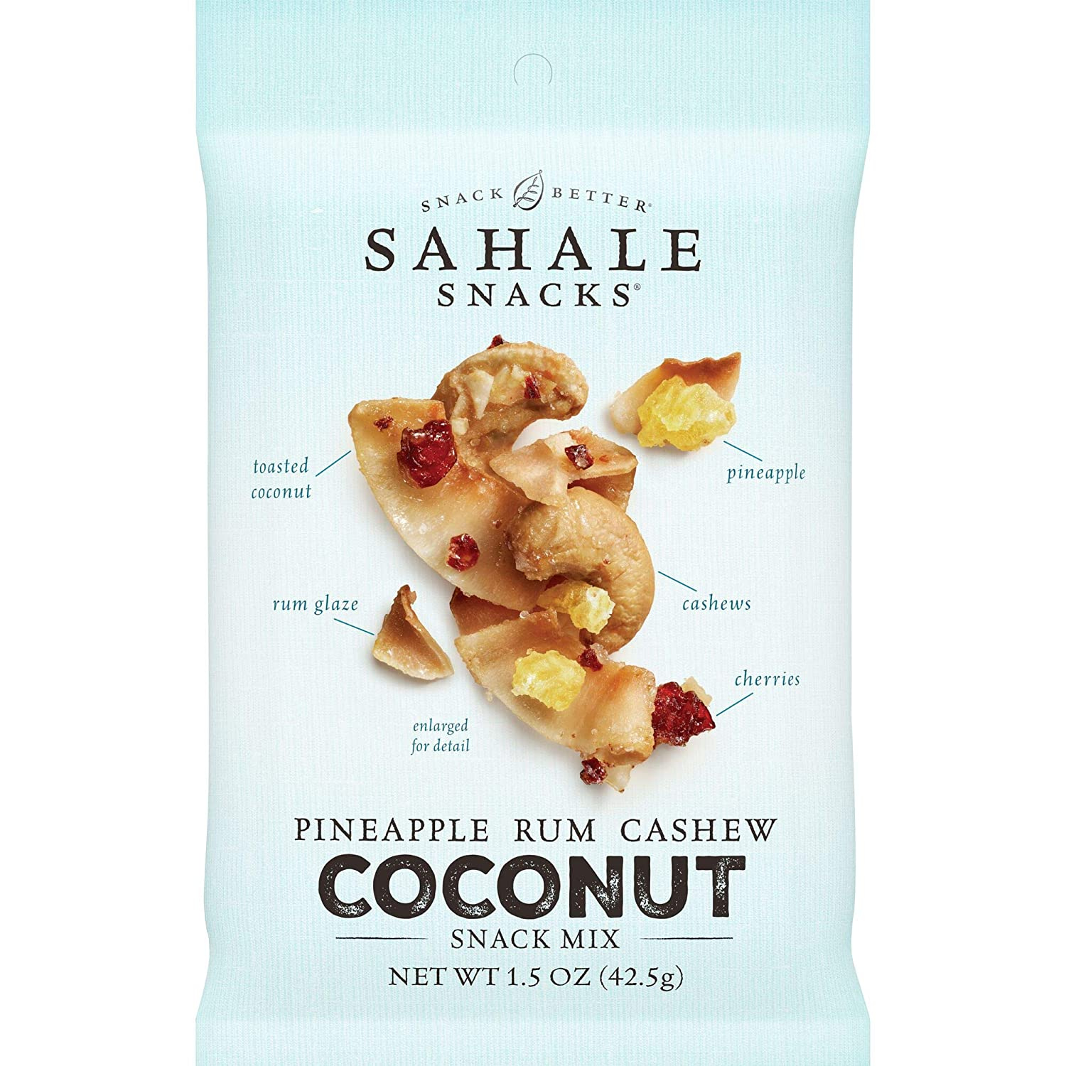 Sahale Snacks Pineapple Rum Cashew Coconut Snack Mix, 1.5 Ounces (Pack of 18)