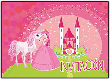 Invitaciones Cumpleaños Princesas Infantil En Español