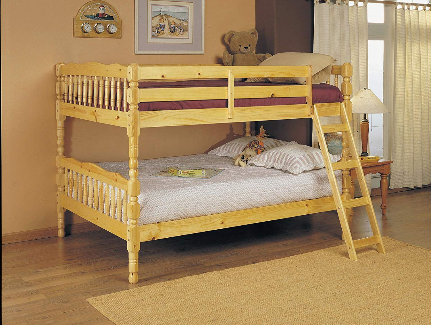 huge selection of 0c291 5d48e ACME 02290 Homestead Full Bunk Bed, Natural Finish