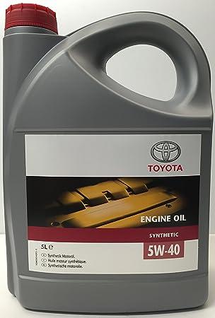 Aceite Motor Original Toyota Sintético 5W40 en envase de 5 litros