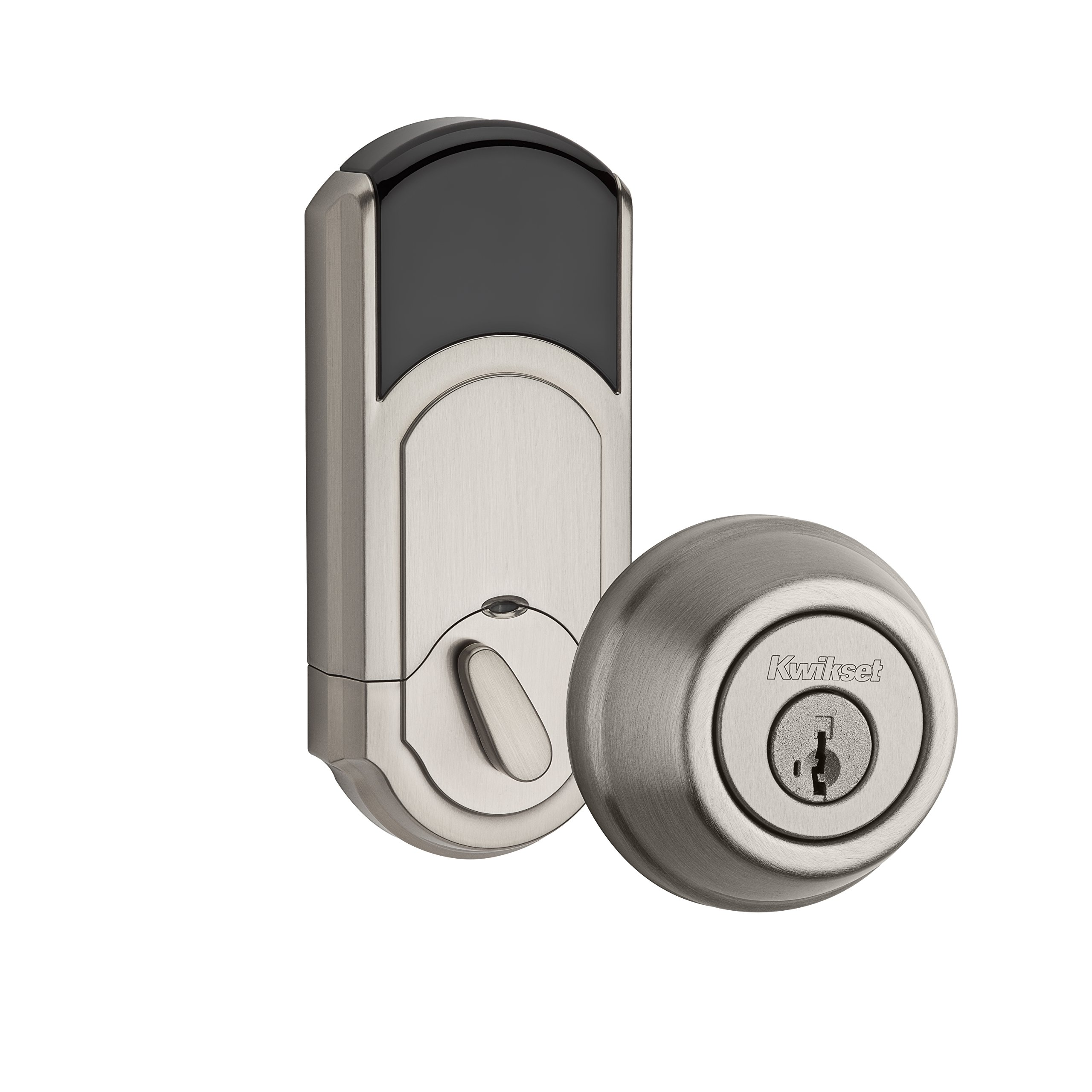 Kwikset 910 Z-Wave Signature Series Traditional Electronic Deadbolt in Satin Nickel