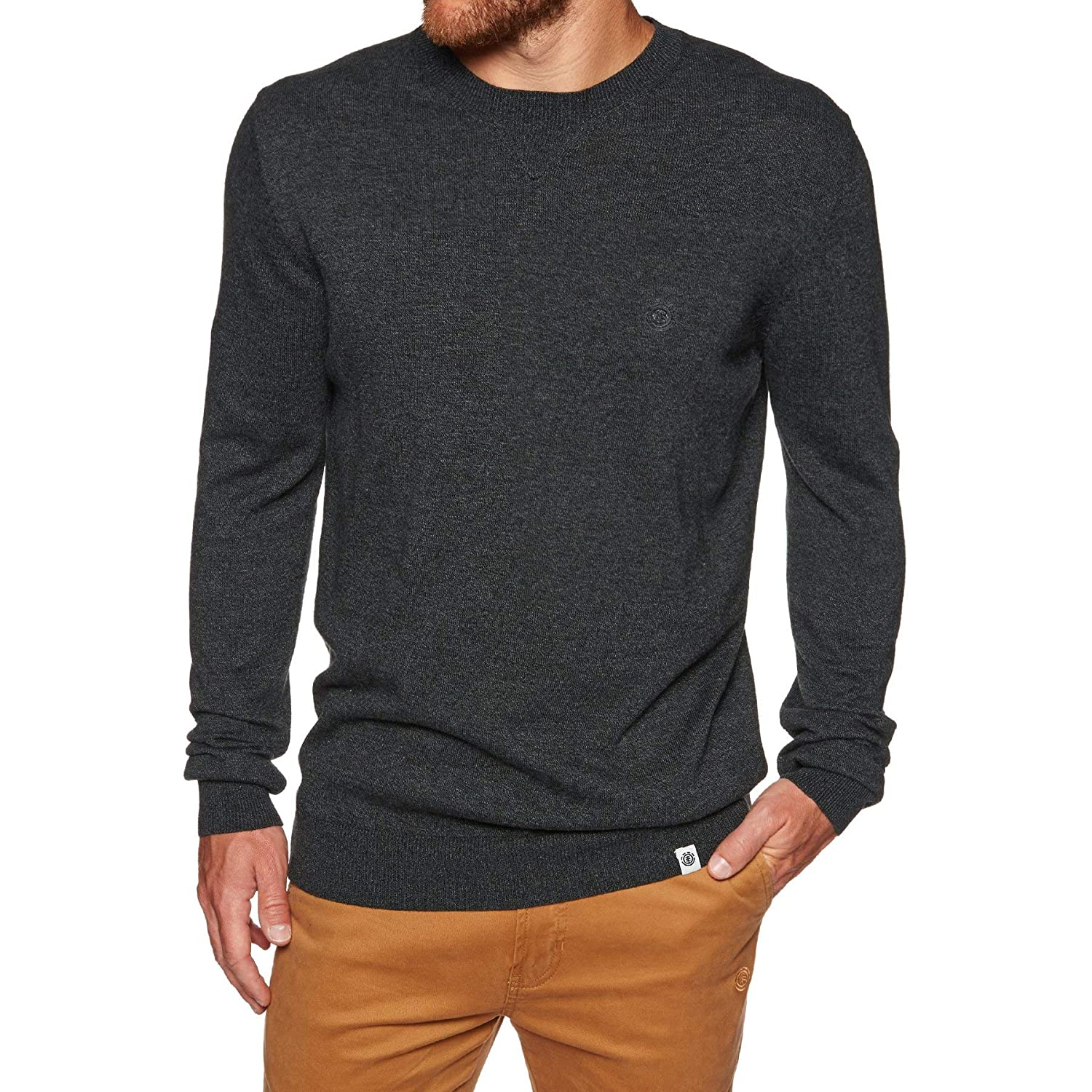 Element Crew Jumper - Flint schwarz Htr