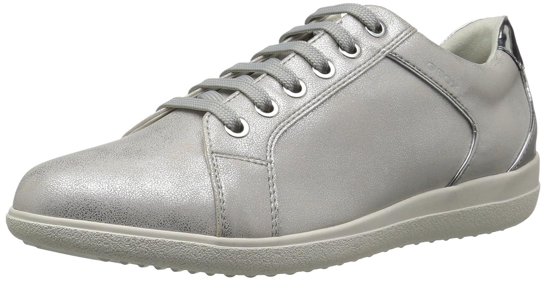 Geox Women's Nihal 5 Sneaker B073HW4MPJ 37 M EU (7 US)|Off White/Light Grey