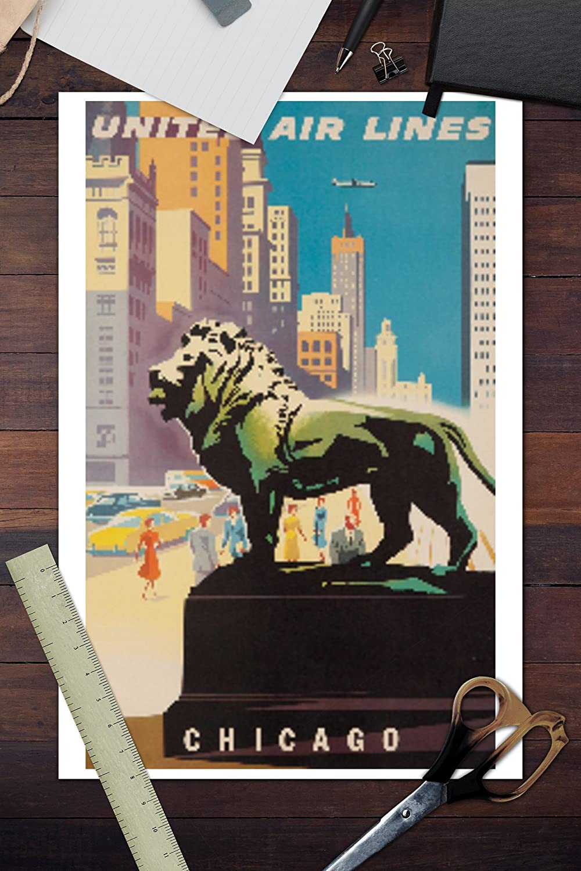 Amazon United Airlines Chicago Artist Binder Usa C 1948