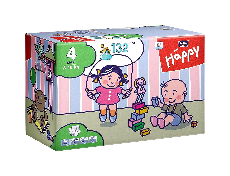 Größe 4 Maxi 8-18 kg, Big Pack Bella Baby Happy Windeln 1 x 132 Windeln