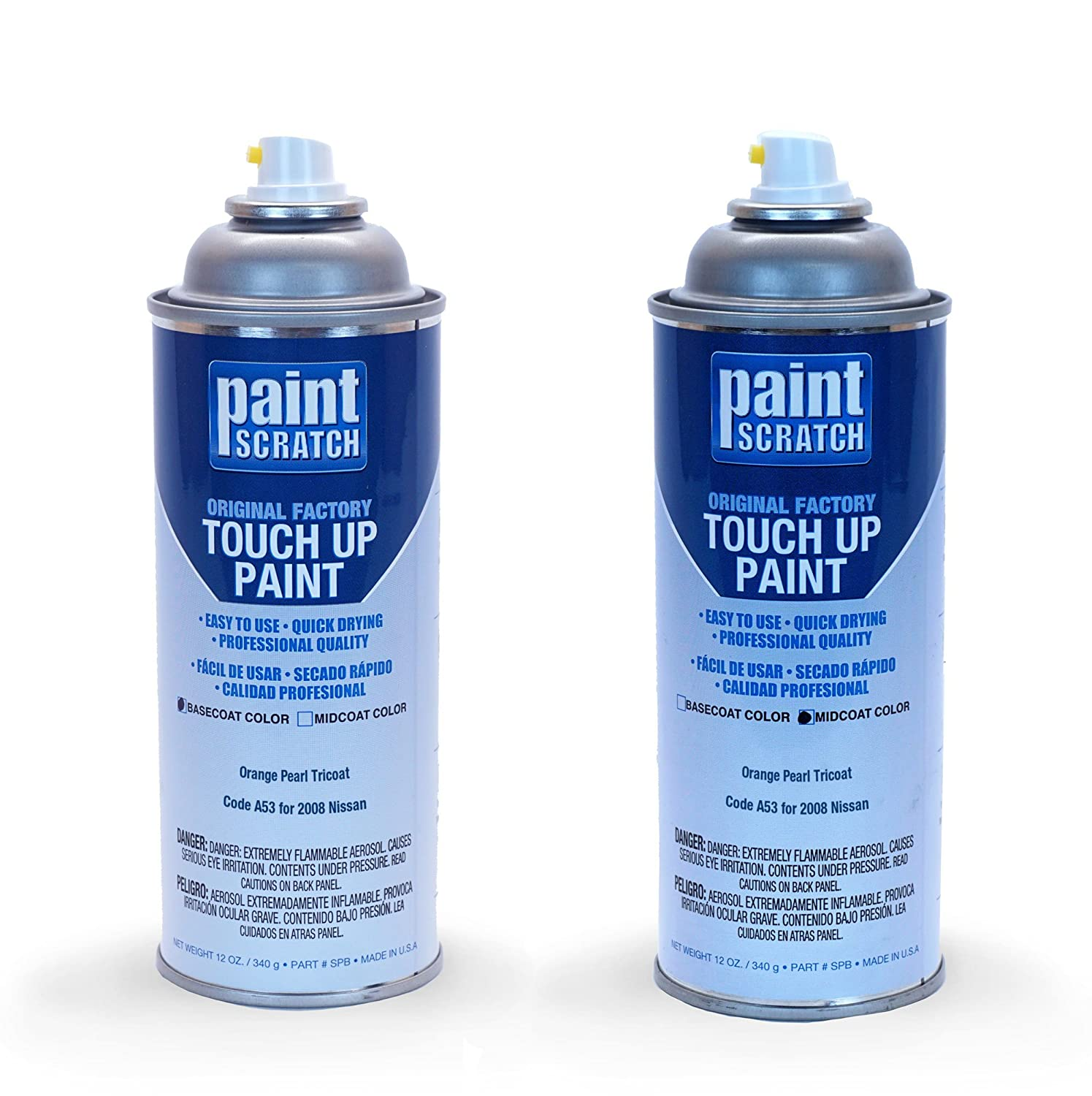 Amazon.com: PAINTSCRATCH Orange Pearl Tricoat A53 for 2008 Nissan 350Z - Touch Up Paint Spray Can Kit - Original Factory OEM Automotive Paint - Color Match ...