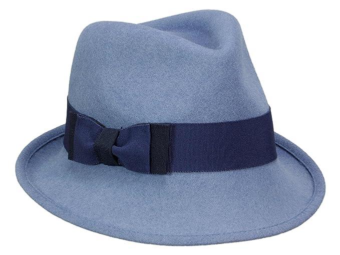 d1544d5de4891 Mayser - Sombrero de vestir - para mujer azul 57  Amazon.es  Ropa y  accesorios