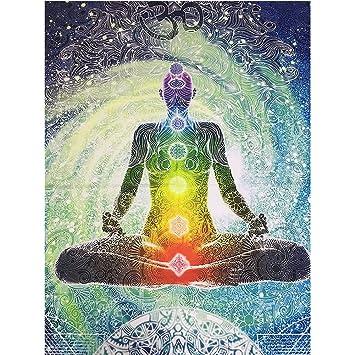 Amazon.com: HOLY HOME Tapestry Raja Yoga Indian Mandala ...