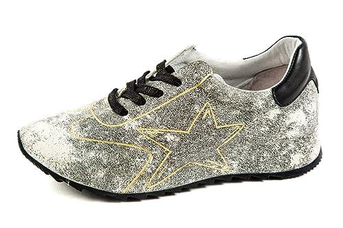 Felmini Original Samples FM-123 - Zapatillas de Piel Lisa para Mujer Negro Negro 37 EU, Color Negro, Talla 37 EU: Amazon.es: Zapatos y complementos
