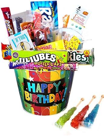 Amazon Happy Birthday Bucket Nostalgic Candy Gift Gourmet