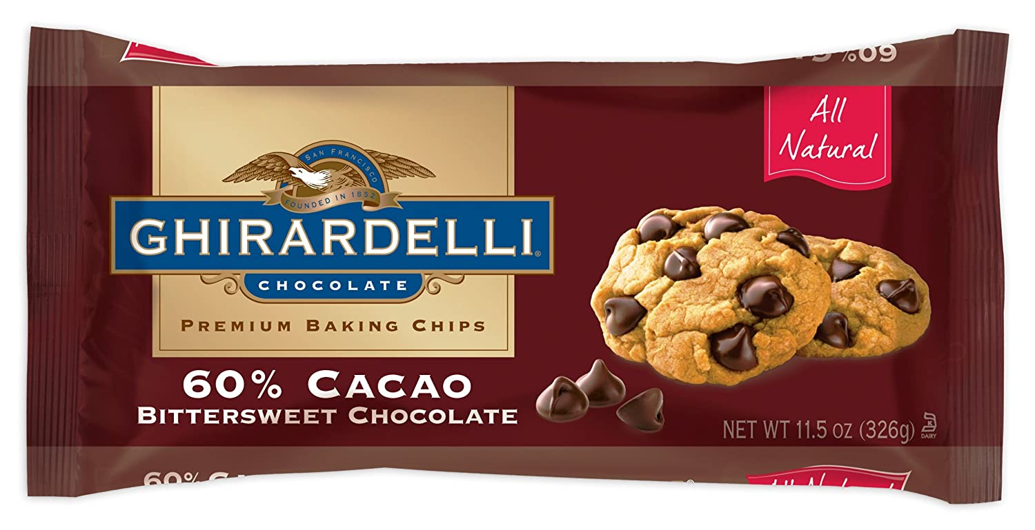 Amazon.com : Ghirardelli Chocolate Baking Chips, 60% Cacao ...