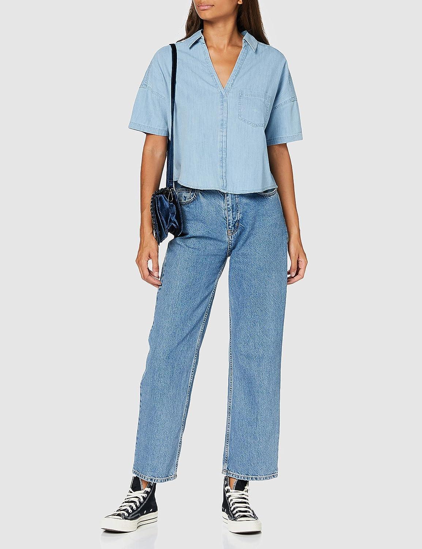 Mavi dam denim skjorta blus Light Indigo