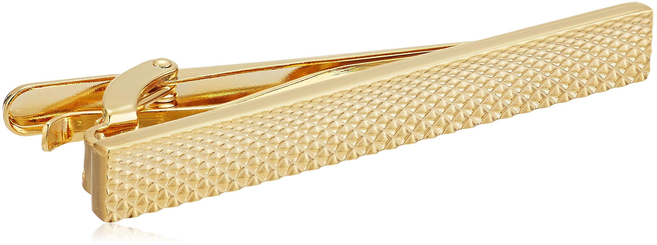 Stacy Adams Men's Textured Tie Bar, Gold, One Size
