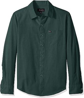 BRIXTON Charter Oxford Camisa de Manga Larga: Amazon.es: Ropa y accesorios