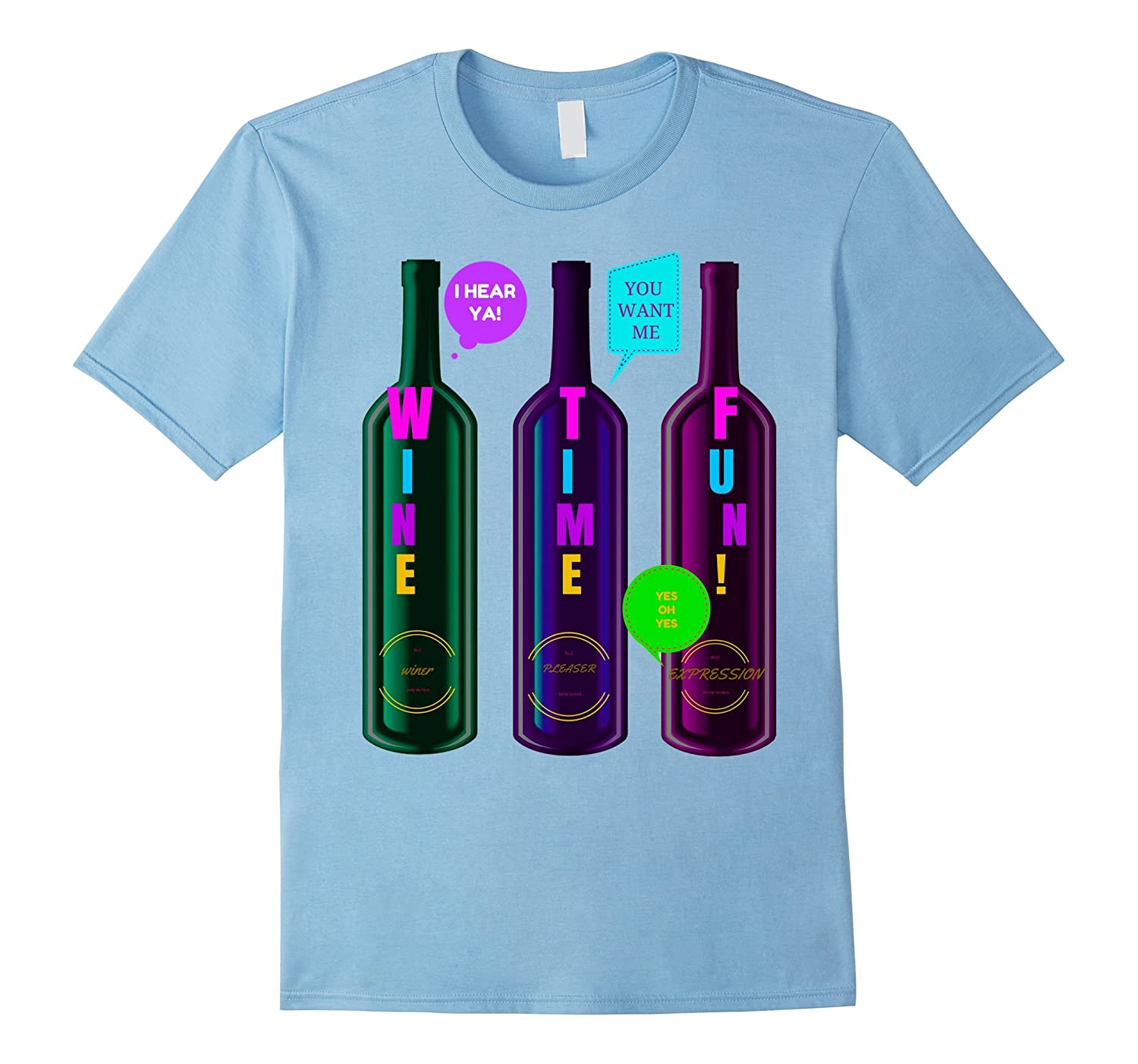WINE TIME FUN WINE LOVER'S SPECIALTY NOVELTY GIFT T SHIRT