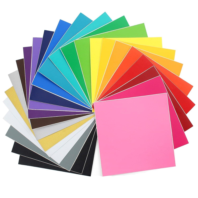 Oracal 631 Matte Vinyl - 24 Pack of Top Colors - 12' x 12' Sheets VINYL-631-24 Piece