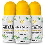 Crystal Deodorant - Mineral Roll on Vegan Deodorant for Women and Men, Chamomile & Green Tea - 2.25 fl. oz. (3 Pack) (Packagi