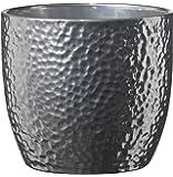 Soendgen Keramik Boston keramiska blomkrukor, Silver, 19 x 19 x 18 cm