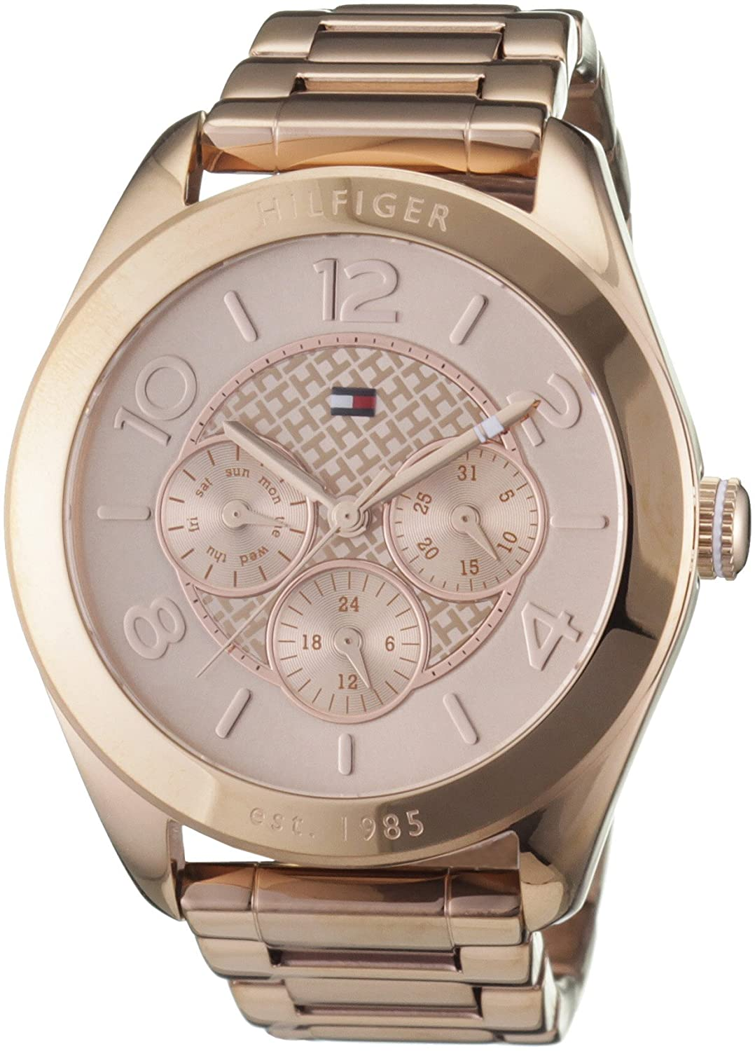 Amazon.com: Tommy Hilfiger Womens 1781204 Rose Gold Stainless-Steel Analog Quartz Watch: Tommy Hilfiger: Watches