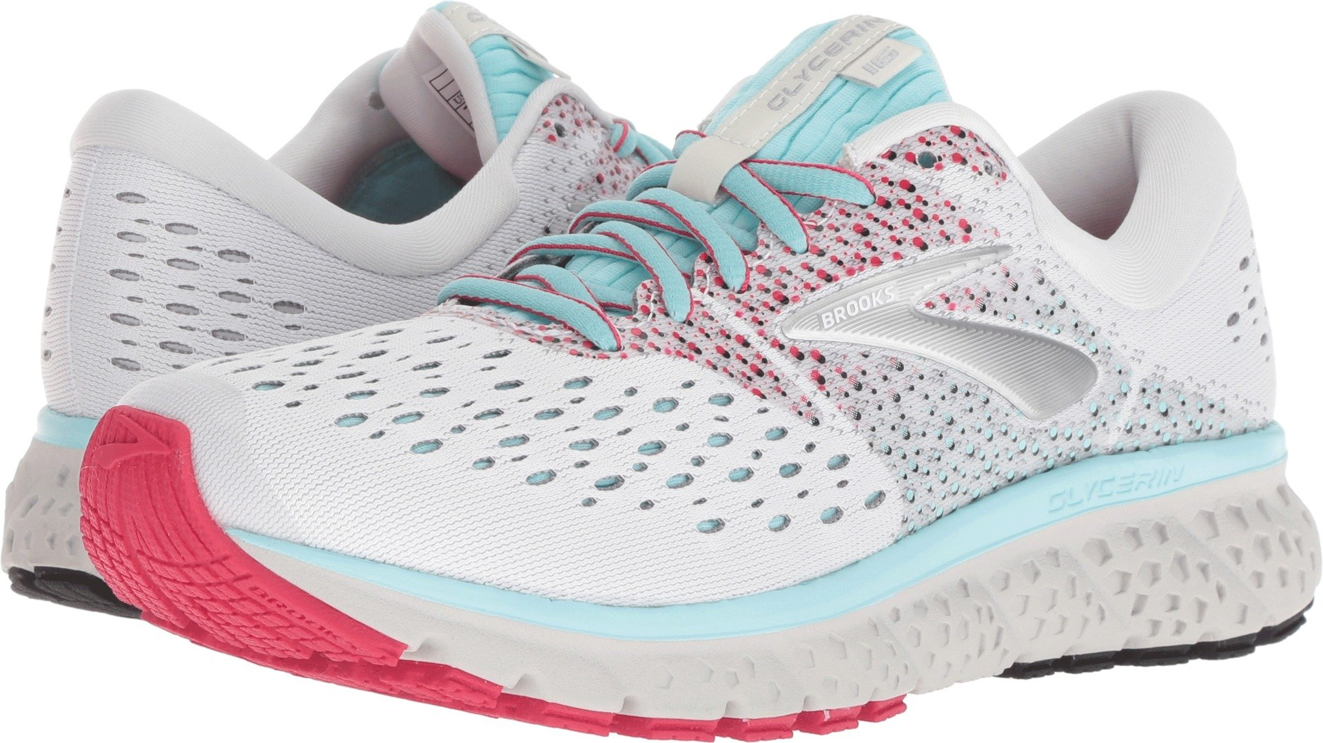 Brooks Women's Glycerin 16 White/Blue/Pink 6.5 B US