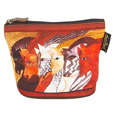 Laurel Burch Mythical Horses Cosmetic Clutch Pouch Moroccan Mares