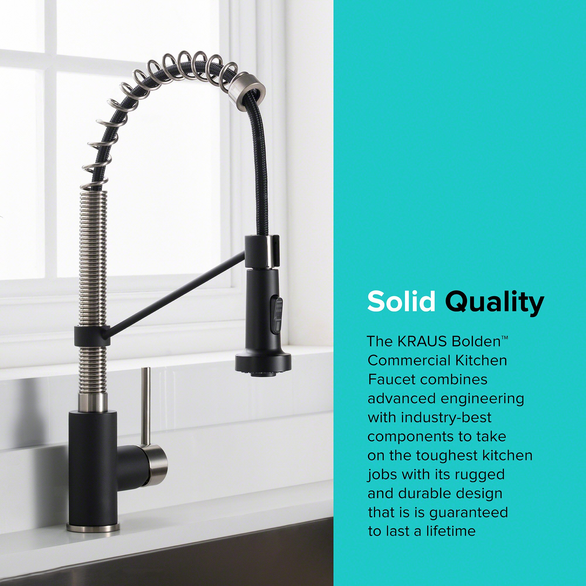 Kraus KPF-1610SSMB Bolden Single Handle Commercial Kitchen Faucet ...