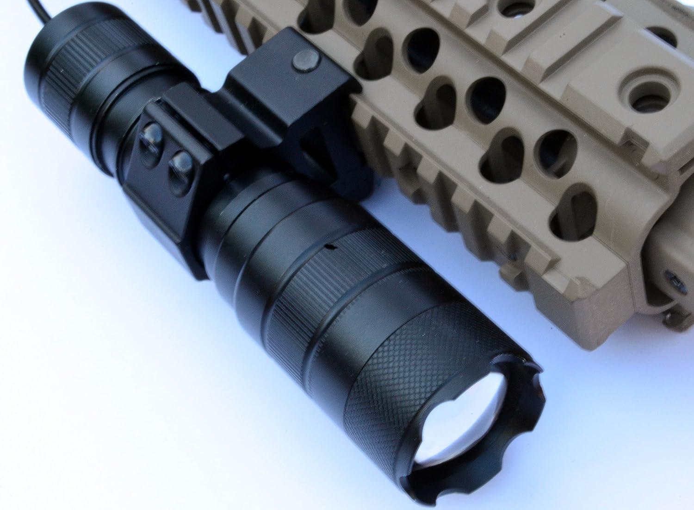 Rifle XPG-Q5 LED Gun Flashlight Pistol Short Gun Torch fit Picatinny 20mm Rail G