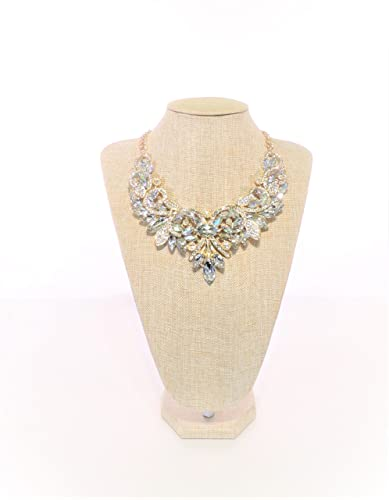 Girl Era Womens Colorful Rhinestone Crystal Queen Costume Jewelry Bib Statement Necklace  sc 1 st  Amazon.com & Amazon.com: Girl Era Womens Colorful Rhinestone Crystal Queen ...
