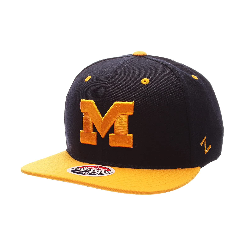 One Size Adjustable Baseball Hat Zephyr Z11 6-Panel Superstar Snapback Cap NCAA ZHATS Flat Bill