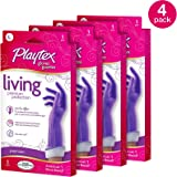 Playtex Living Reuseable Rubber Cleaning Gloves, Premium Protection (Large, Pack - 4)